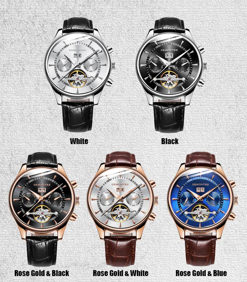 Men's Leather Automatic Watch