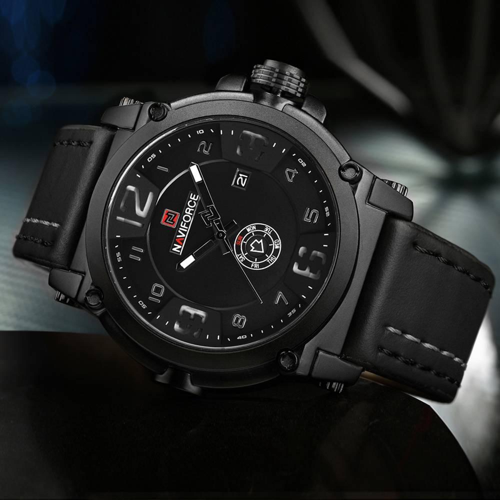 Luxury Sport Leather Strap Quartz Watch