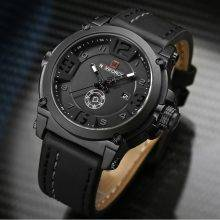 Luxury Sport Leather Strap Quartz Watch
