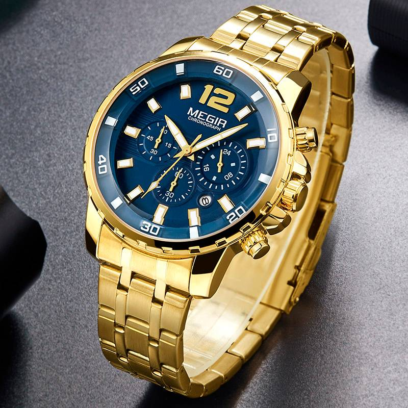 Luxurious Stainless Steel Wristwatches for Men with Chronograph