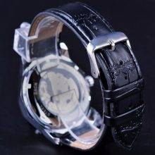 Stylish Auto Mechanical Watches with Exposed Working Skeleton