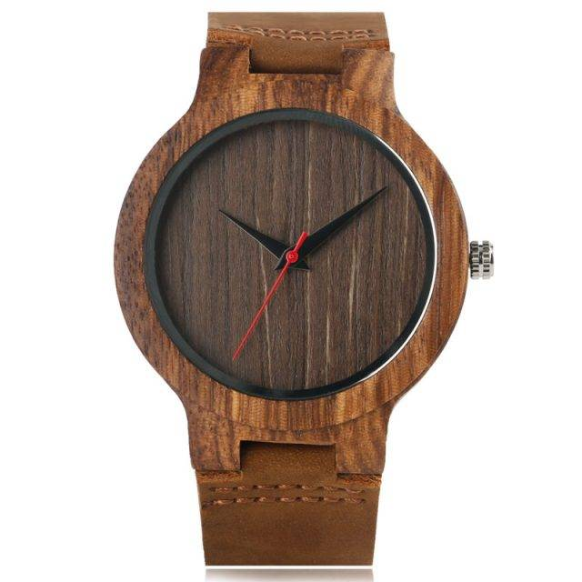 Men's Wooden Watches with Leather Band