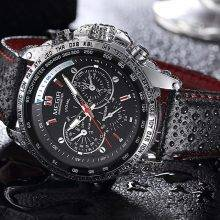 Waterproof Quarts Watches for Men with Luminous Dial Elements