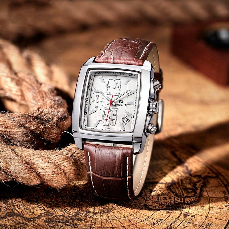 Classic Square Wristwatches for Men