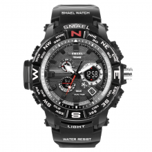 Rugged Watches for Men with Dual Digital and Analogue Display