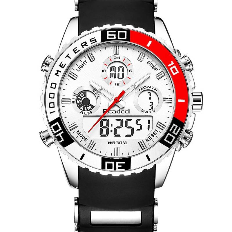 Men's Multifunctional Waterproof Watches with LED Display