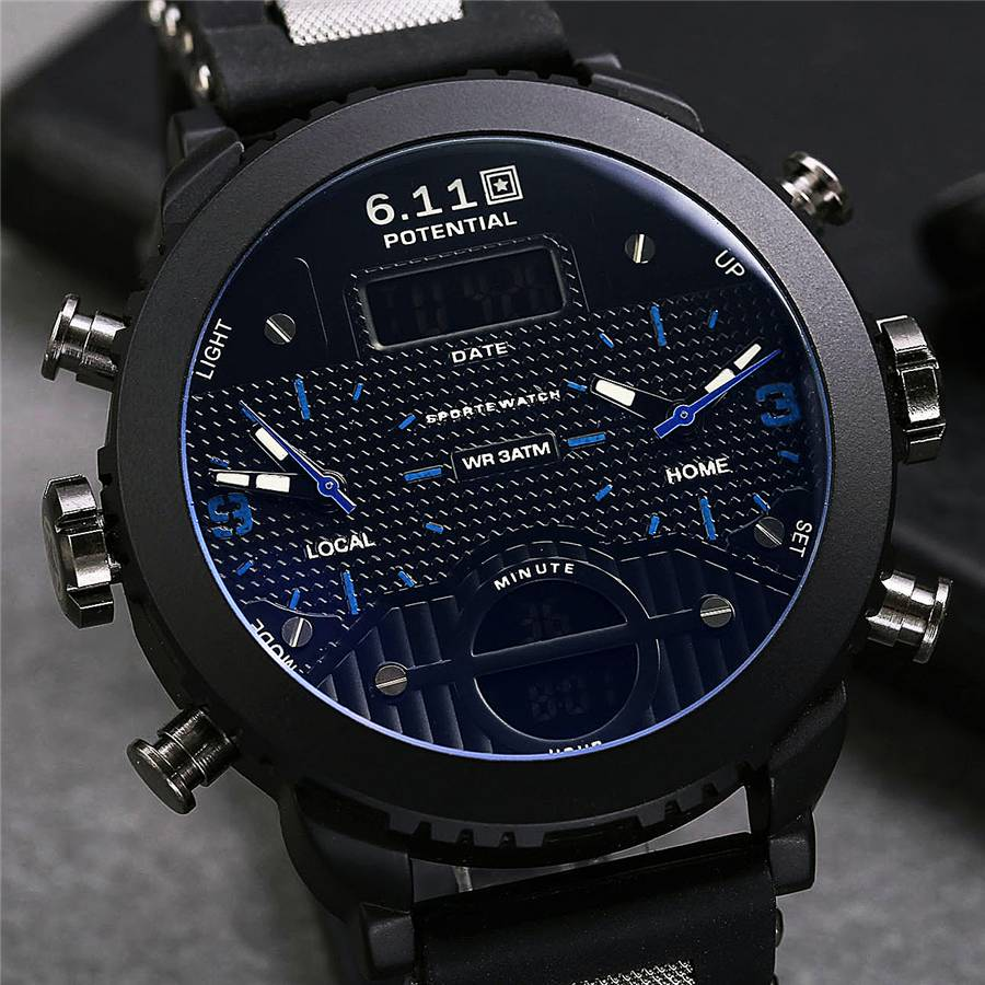 Stylish Dual Display Wristwatches for Men