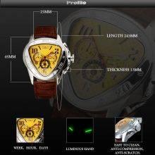 Fashion Luxury Mechanical Skeleton Watches for Men
