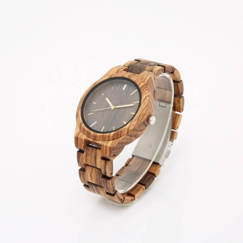 Casual Wooden Quartz Watches for Men