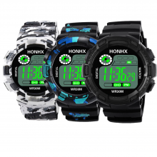 Military Styled Sports Watches for Men with Camo Design