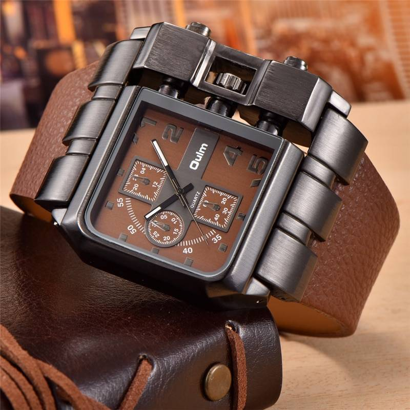 Men's Square Leather Watches