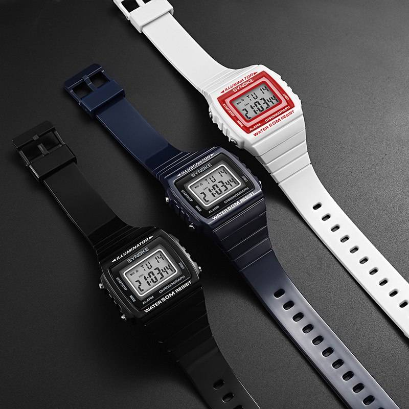 Retro Styled Digital Wristwatches for Men
