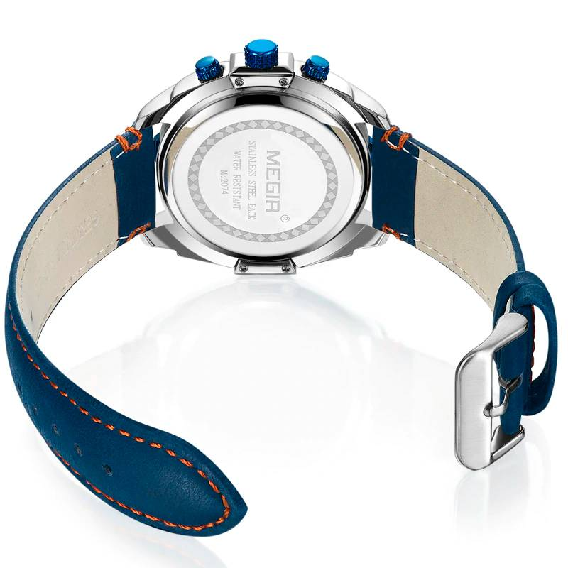 Casual Quartz Watches for Men with Leather Strap