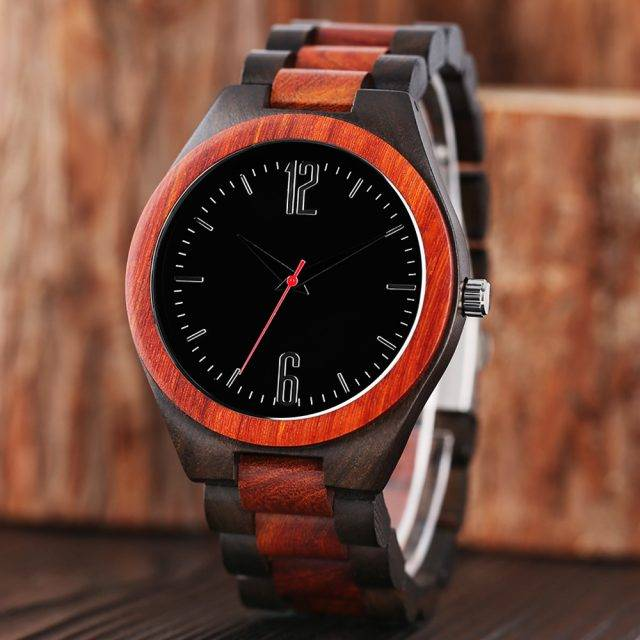 Creatively Designed Sports Wood Men's Wristwatch