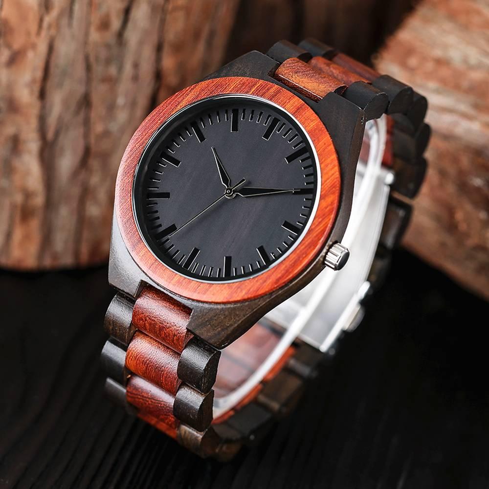 Creatively Designed Sports Wood Men's Wristwatch