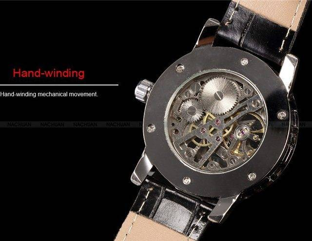Fashion Mechanical Skeleton Watches for Men
