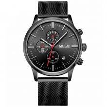 Wristwatches for Men with Metal Mesh Strap