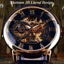 3D Elegant Luxury Mechanical Skeleton Watches for Men