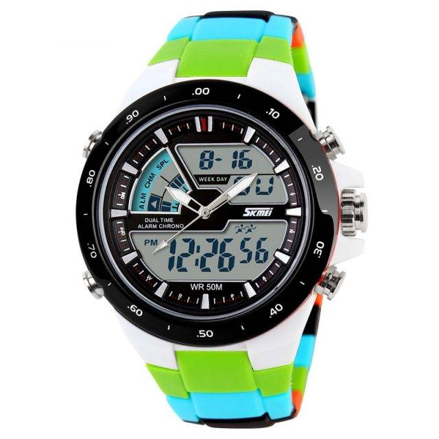 Men's Wristwatches with Digital and Analogue Display