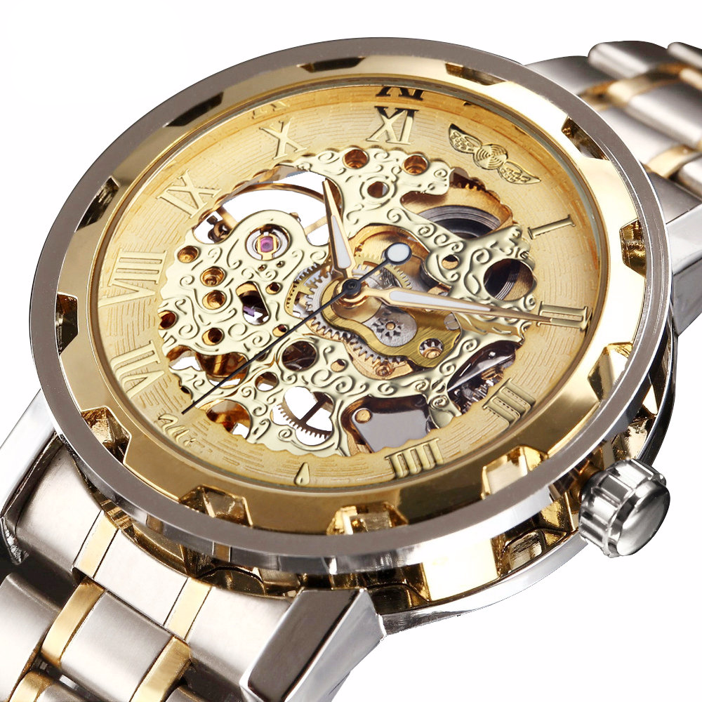Men's Steampunk Style Mechanical Watch