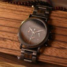 Men's Luxury Style Wooden Chronograph Watch