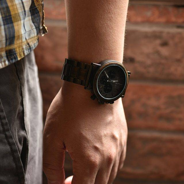 Men's Luxury Style Wooden Chronograph Watch