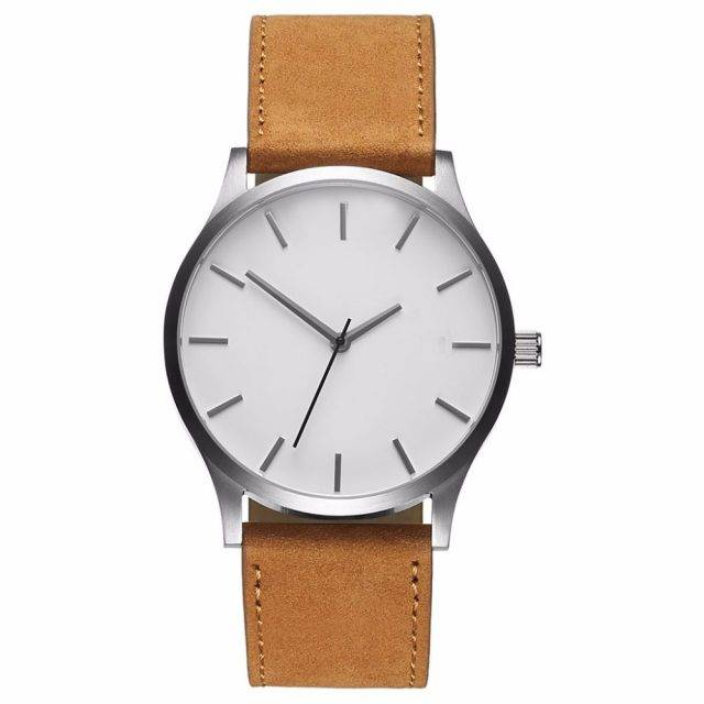 Minimalistic Design Men's Watches with Leather Band