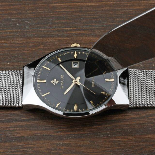 Ultra Thin Quartz Wristwatches for Men