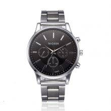 Stainless Steel Quartz Wristwatches for Men with Analogue Dial
