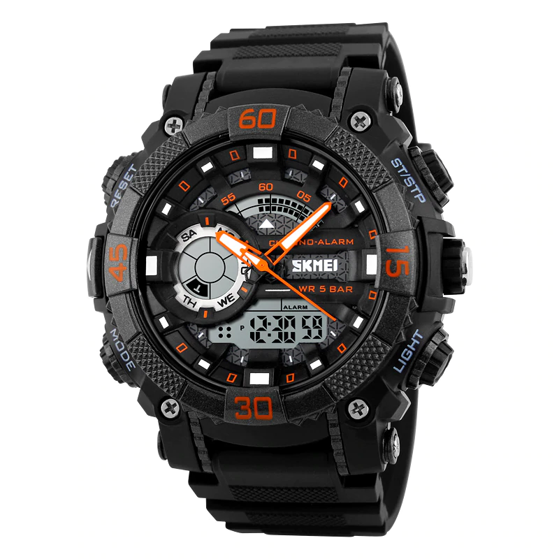 Rugged Sports Watches for Men with Dual Display