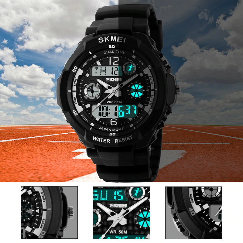 Shock Resistant Digital Sports Wristwatches for Men