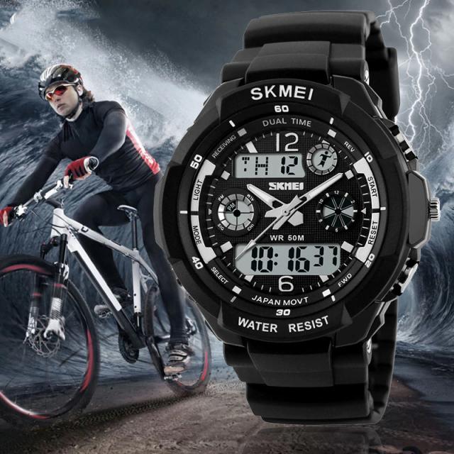 Shock Resistant Digital Sports Wristwatches for Men