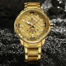 Men's Elegant Wristwatch with Metal Band and Box