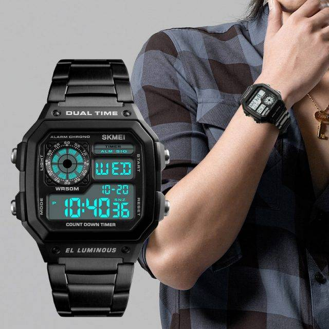 Men's Waterproof Stainless Steel Watch