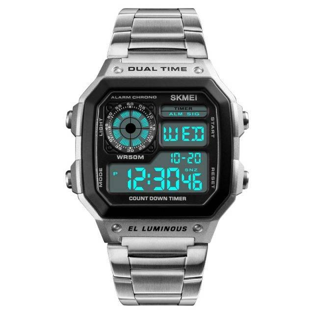 Men's Waterproof Stainless Steel Watch Color: Silver