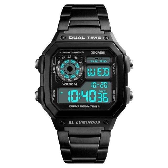 Men's Waterproof Stainless Steel Watch Color: Black