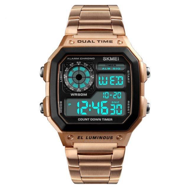 Men's Waterproof Stainless Steel Watch Color: Rose