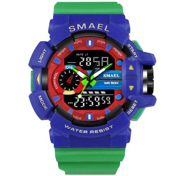 Men's Colorful Design Waterproof Sports Watches