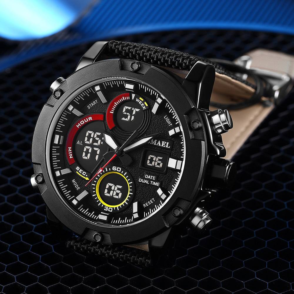 Men's Durable Nylon Strap Sport Watches