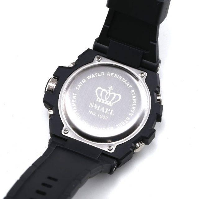 Dual Display Men's Wrist Watches