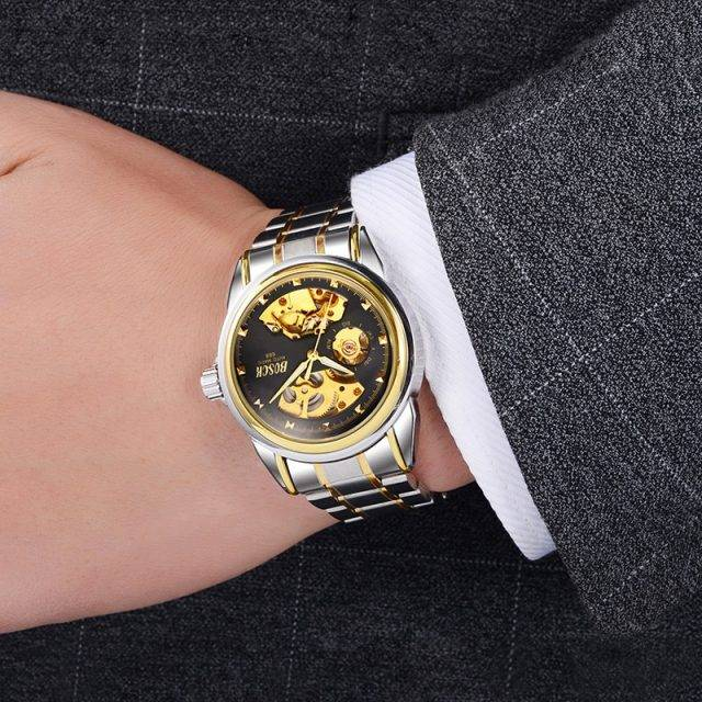 Waterproof Automatic Wristwatches with Stainless Steel Case