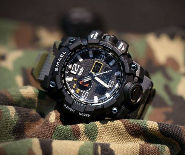 Men's Camouflage Print LED Watches