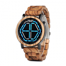 Wooden Digital Wristwatches for Men