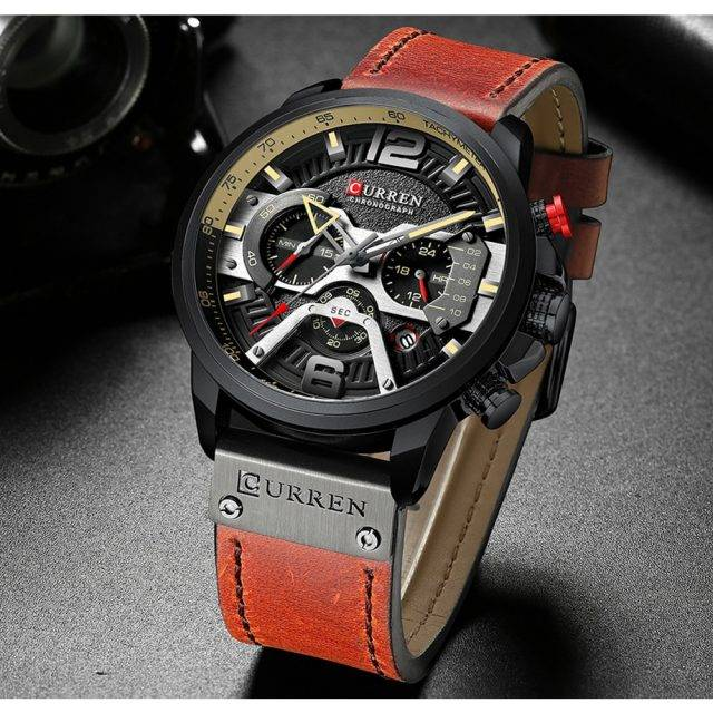 Men's Leather and Metal Strap Watches