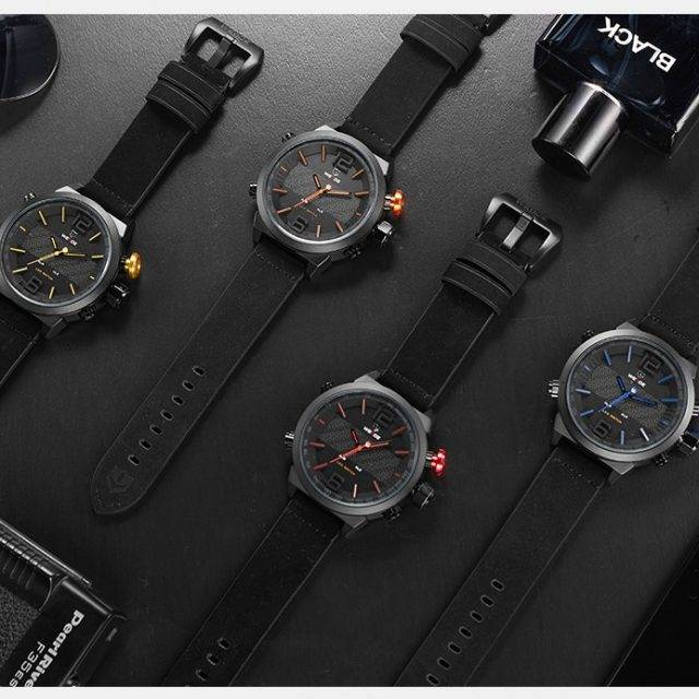 Creative Design Men's Sports Watch with LED Display