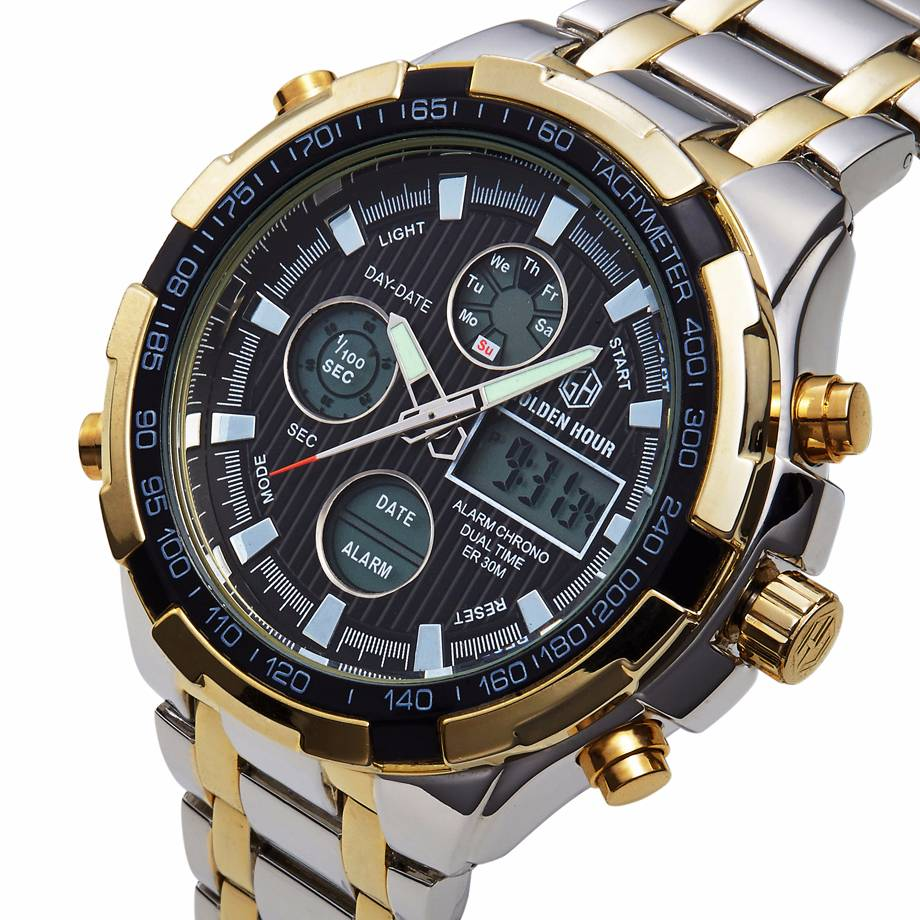 Luxury Digital Watches With Dual Display for Men