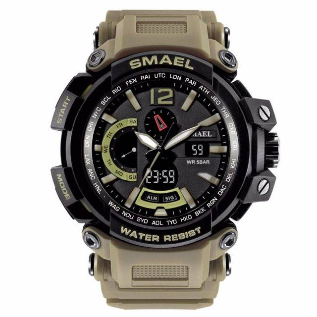 Military Waterproof Sports Watches With Dual Display for Men
