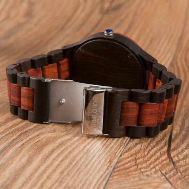 Men's Striped Wooden Watches