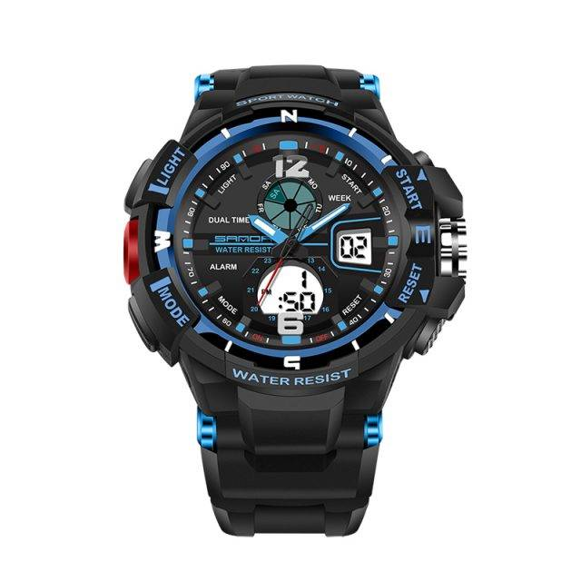 Elegant Sport Dual Display Watches for Men