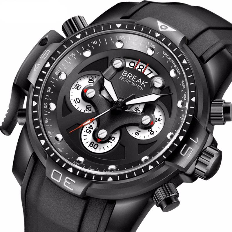 Men's Rubber Sports Wristwatches